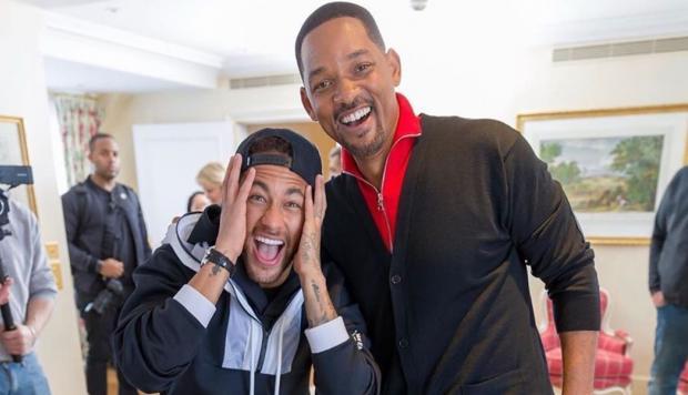 ¡La locura! Así fue el encuentro de Neymar y Will Smith