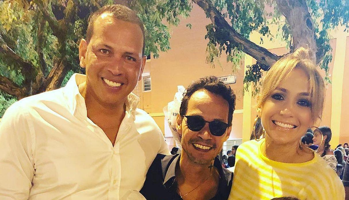 El video viral de JLo y Alex Rodríguez con Marc Anthony