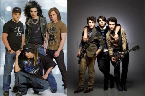 Jonas Brothers y Tokio Hotel rememoraron foto de hace 11 años