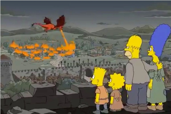 Los Simpson predijeron el  polémico giro de Game of Thrones