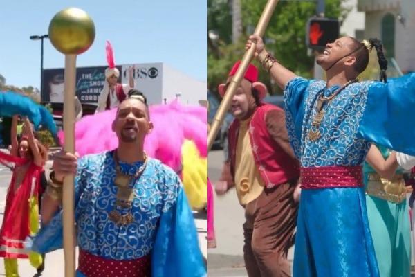 El musical de Will Smith por el estreno de 'Aladdín' (Video)