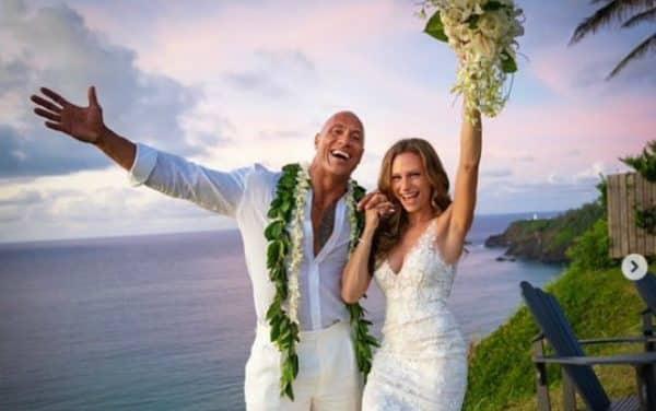 La Roca se casó con su novia de hace 12 años