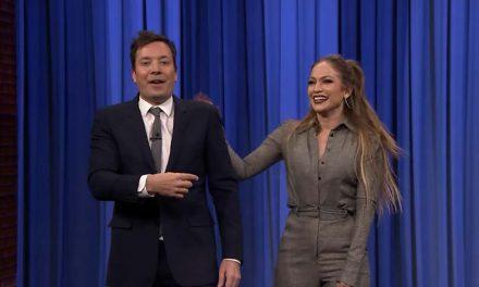 Jennifer López y Jimmy Fallon hicieron divertidos bailes